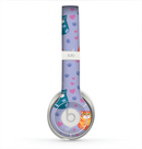 The Light Purple Fat Cats Skin for the Beats by Dre Solo 2 Headphones