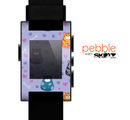 The Light Purple Fat Cats Skin for the Pebble SmartWatch