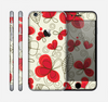 The Light Tan With Red Accented Flower Petals Skin for the Apple iPhone 6