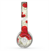 The Light Tan With Red Accented Flower Petals Skin for the Beats by Dre Solo 2 Headphones