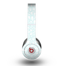 The Light Teal Blue & White Floral Sprout Skin for the Beats by Dre Original Solo-Solo HD Headphones