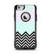 The Light Teal & Purple Sharp Black Chevron Apple iPhone 6 Otterbox Commuter Case Skin Set
