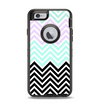 The Light Teal & Purple Sharp Black Chevron Apple iPhone 6 Otterbox Defender Case Skin Set