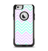 The Light Teal & Purple Sharp Chevron Apple iPhone 6 Otterbox Commuter Case Skin Set