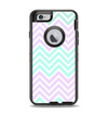 The Light Teal & Purple Sharp Chevron Apple iPhone 6 Otterbox Defender Case Skin Set