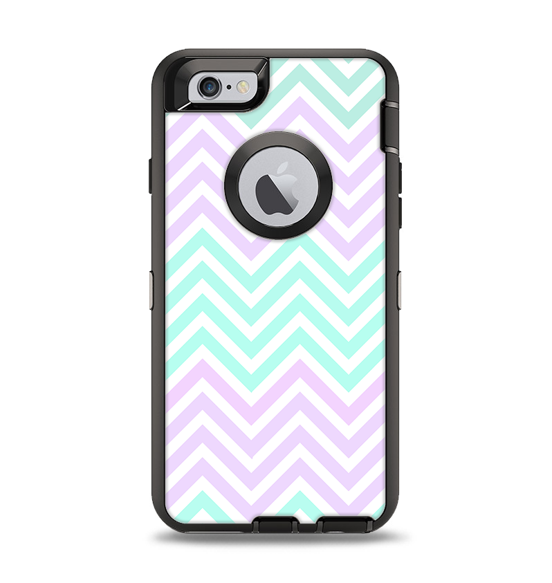 pretty nice b0bb5 4f46a The Light Teal & Purple Sharp Chevron Apple iPhone 6 Otterbox Defender Case  Skin Set