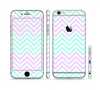 The Light Teal & Purple Sharp Chevron Sectioned Skin Series for the Apple iPhone 6s Plus
