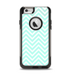 The Light Teal & White Sharp Chevron Apple iPhone 6 Otterbox Commuter Case Skin Set