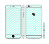 The Light Teal & White Sharp Chevron Sectioned Skin Series for the Apple iPhone 6s Plus
