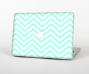 "The Light Teal & White Sharp Chevron Skin Set for the Apple MacBook Pro 15"" with Retina Display"