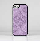 The Light and Dark Purple Floral Delicate Design Skin-Sert for the Apple iPhone 5c Skin-Sert Case