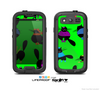 The Lime & Cute Fashion Cats Skin For The Samsung Galaxy S3 LifeProof Case