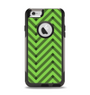 The Lime Green Black Sketch Chevron Apple iPhone 6 Otterbox Commuter Case Skin Set
