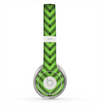 The Lime Green Black Sketch Chevron Skin for the Beats by Dre Solo 2 Headphones