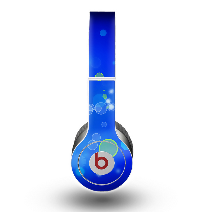 The Lime Green & Blue Unfocused Cells Skin for the Beats by Dre Original Solo-Solo HD Headphones