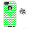 The Lime Green Chevron Pattern Skin For The iPhone 4-4s or 5-5s Otterbox Commuter Case