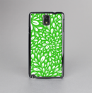 The Lime Green & White Floral Sprout Skin-Sert Case for the Samsung Galaxy Note 3