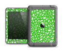 The Lime Green & White Floral Sprout Apple iPad Air LifeProof Fre Case Skin Set