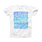 The Live Love Surf ink-Fuzed Front Spot Graphic Unisex Soft-Fitted Tee Shirt