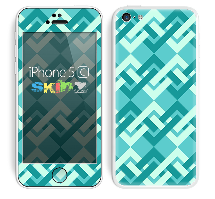 The Locking Green Pattern Skin for the Apple iPhone 5c