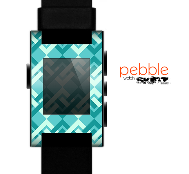 The Locking Green Pattern Skin for the Pebble SmartWatch