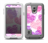 The Loopy Pink and Purple Hearts Skin for the Samsung Galaxy S5 frē LifeProof Case