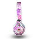 The Loopy Pink and Purple Hearts Skin for the Beats by Dre Mixr Headphones