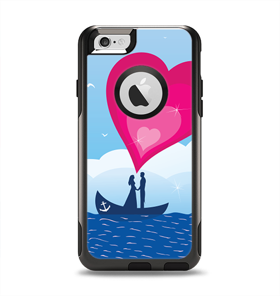 The Love-Sail Heart Trip Apple iPhone 6 Otterbox Commuter Case Skin Set