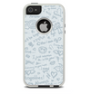 The Love Story Doodle Sketch Skin For The iPhone 5-5s Otterbox Commuter Case