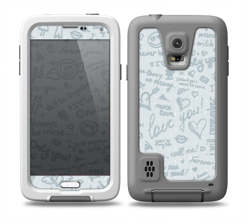 The Love Story Doodle Sketch Skin for the Samsung Galaxy S5 frē LifeProof Case