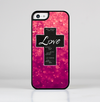 The Love is Patient Cross over Unfocused Pink Glimmer Skin-Sert for the Apple iPhone 5c Skin-Sert Case