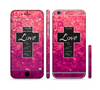 The Love is Patient Cross over Unfocused Pink Glimmer Sectioned Skin Series for the Apple iPhone 6
