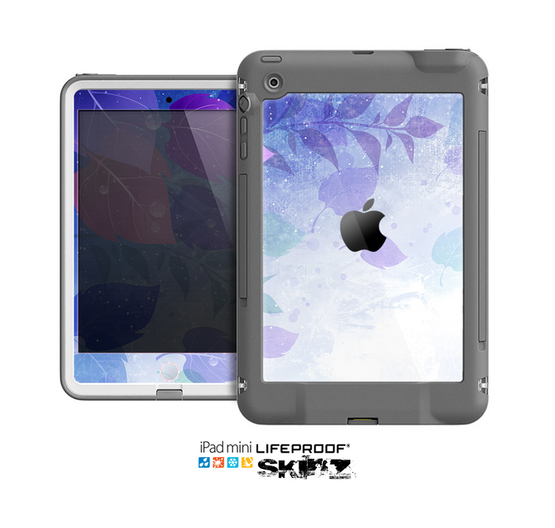 The Magical Abstract Pink & Blue Floral Skin for the Apple iPad Mini LifeProof Case