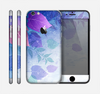 The Magical Abstract Pink & Blue Floral Skin for the Apple iPhone 6