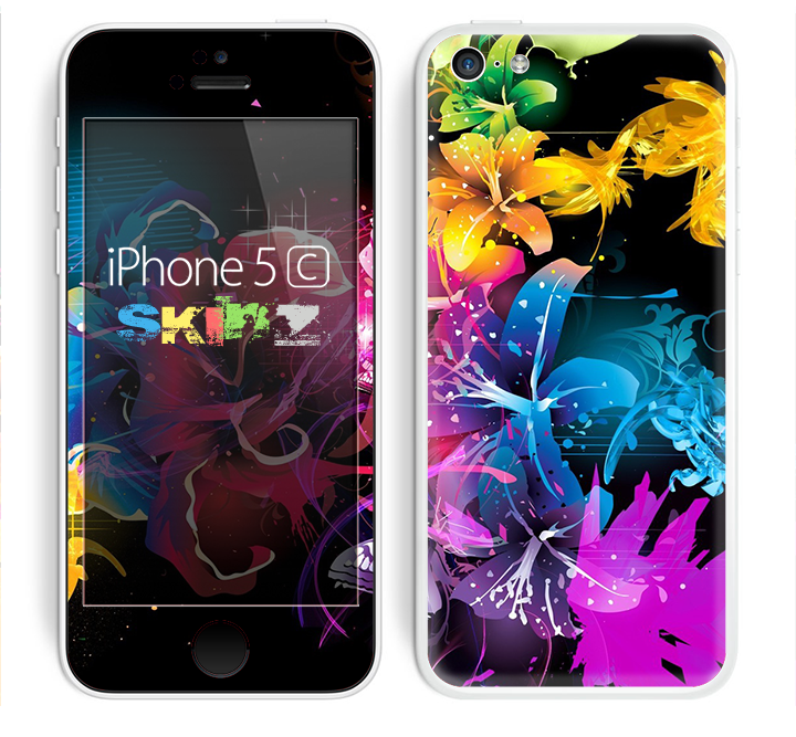 The Magical Glowing Floral Design Skin for the Apple iPhone 5c