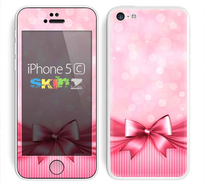 The Magical Pink Bow Skin for the Apple iPhone 5c