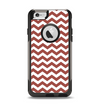 The Maroon & White Chevron Pattern Apple iPhone 6 Otterbox Commuter Case Skin Set