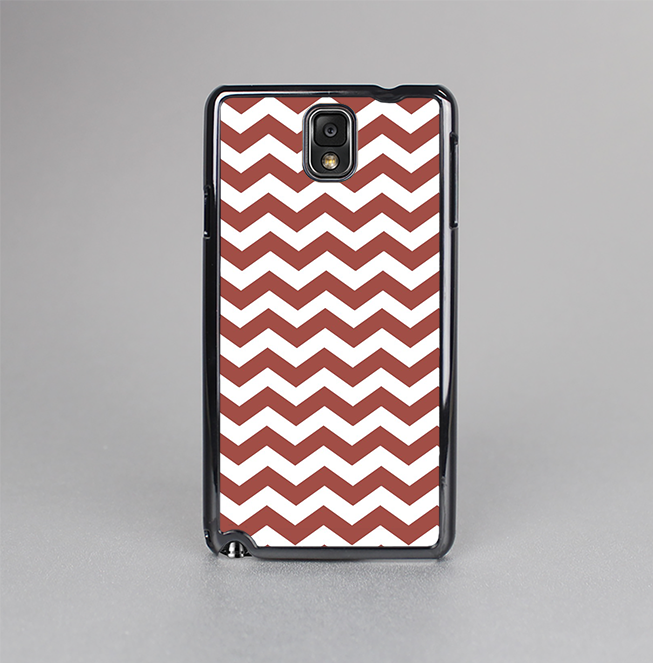 The Maroon & White Chevron Pattern Skin-Sert Case for the Samsung Galaxy Note 3