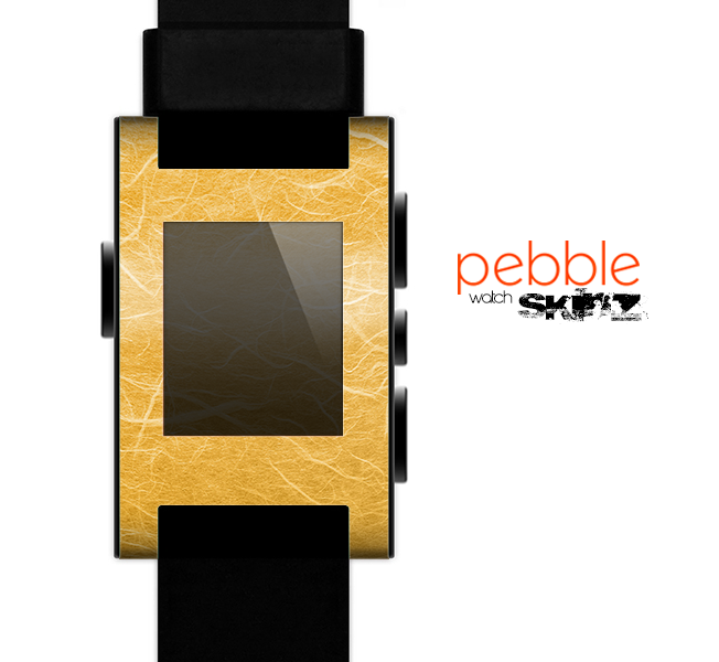 The Messy Golden Strands Skin for the Pebble SmartWatch