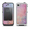The Messy Water-Color Scratched Surface Apple iPhone 4-4s LifeProof Fre Case Skin Set