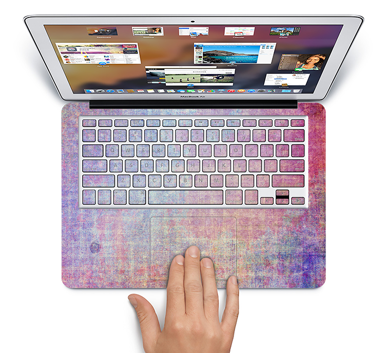 "The Messy Water-Color Scratched Surface Skin Set for the Apple MacBook Pro 15"" with Retina Display"