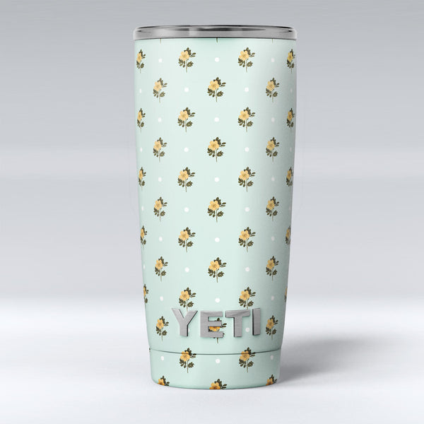 The_Micro_Daisy_and_Mint_Polka_Dot_Pattern_-_Yeti_Rambler_Skin_Kit_-_20oz_-_V1.jpg