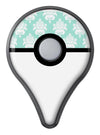 The Mint Green Decorative Pattern  Pokémon GO Plus Vinyl Protective Decal Skin Kit
