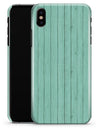 The Mint Green Wood Planks  - iPhone X Clipit Case
