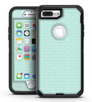 The Mint Happy, Love, Joy Teal Pattern - iPhone 7 Plus/8 Plus OtterBox Case & Skin Kits