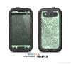 The Mint & White Delicate Pattern Skin For The Samsung Galaxy S3 LifeProof Case