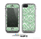 The Mint & White Delicate Pattern Skin for the Apple iPhone 5c LifeProof Case