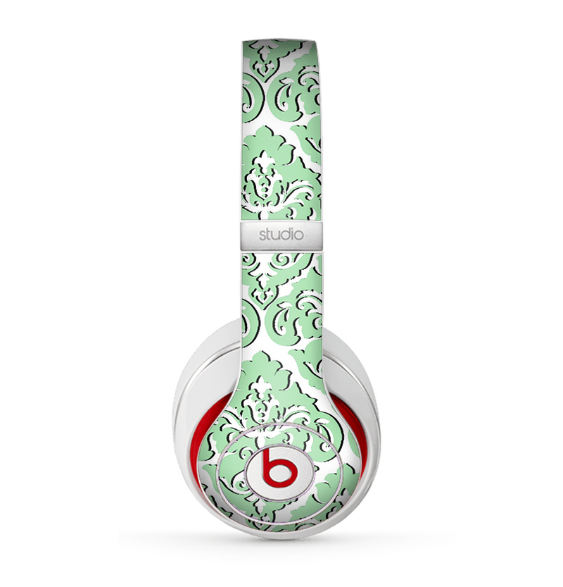 The Mint & White Delicate Pattern Skin for the Beats by Dre Studio (2013+ Version) Headphones