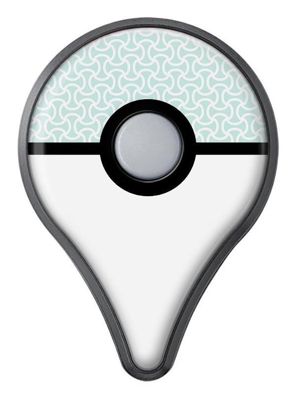 The Mint and White Axed Pattern Pokémon GO Plus Vinyl Protective Decal Skin Kit