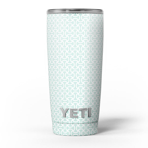 The_Mint_and_White_Axed_Pattern_-_Yeti_Rambler_Skin_Kit_-_20oz_-_V5.jpg